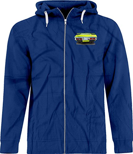 Pictures Plymouth Gtx (BSW Men's Nice Ass 1971 Plymouth GTX V8 Crest Zip Hoodie 2XL Royal)