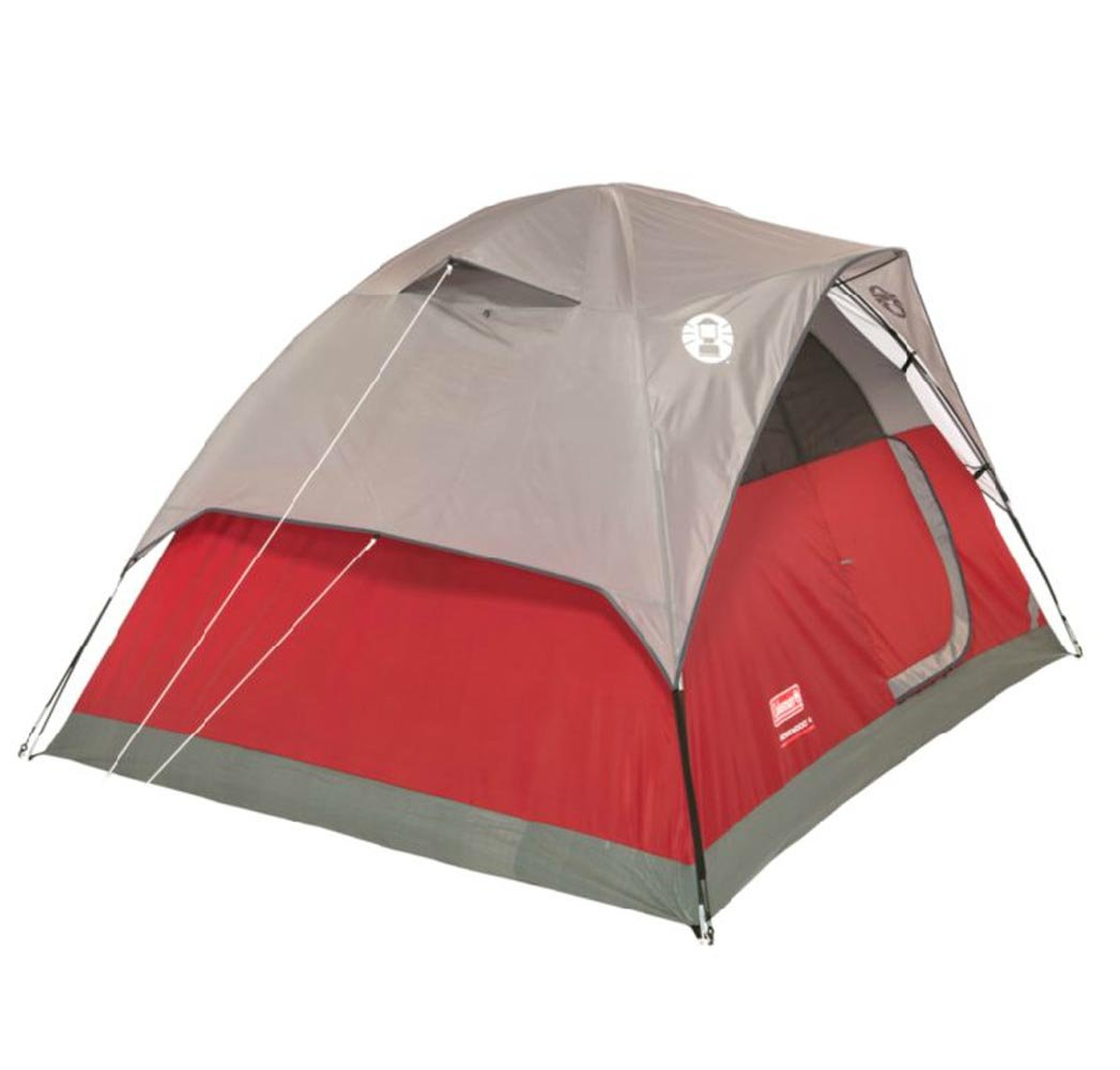 Amazon.com  COLEMAN Flatwoods WeatherTec 4 Person Family C&ing Tent w/ Rainfly | 9u0027 x 7u0027  Backpacking Tents  Sports u0026 Outdoors  sc 1 st  Amazon.com : coleman rosewood tent - memphite.com