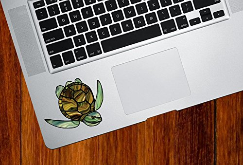 Yadda-Yadda Design Co. Honu Sea Turtle - Stained Glass Style Vinyl Decal for MacBook | Laptop | Indoor UseYYDC (Small 2.75
