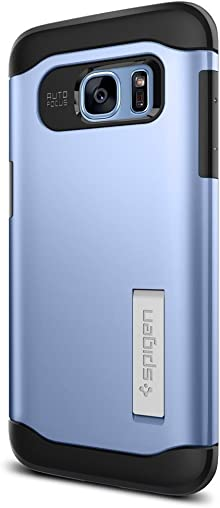 Spigen Coque Galaxy S7 Edge, [Slim Armor] AIR Cushion [Bleu] Air Cushioned Corners/Dual Layer Protective Coque Samsung Galaxy S7 Edge (2016) - (556CS21030)
