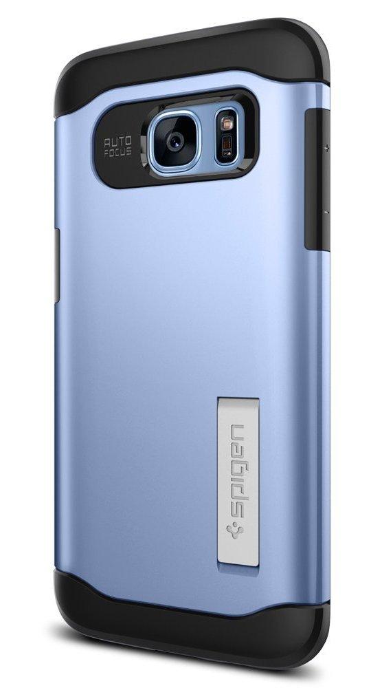 Spigen Coque Galaxy S7 Edge,  Slim Armor  AIR Cushion  Bleu  Air Cushioned  Corners Dual Layer Protective Coque Samsung Galaxy S7 Edge (2016) -  (556CS21030)  ... 1985ceaba7c0