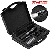 STURME LED Torch Super Bright High Lumens 1000 Feet Bright Distance Adjustable Focus LED Flashlight with 5 Modes IP65 Water-Resistant Outdoor Torch Perfect for Camping Outdoor Sports Home Use