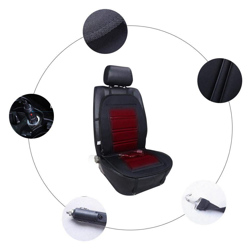 Miyaer Sitzheizung Auto Sitzkissen Beheizbar Sitzauflage Beheiztes Universal 12V Kissen mit W/ärmeanpassung Accepted