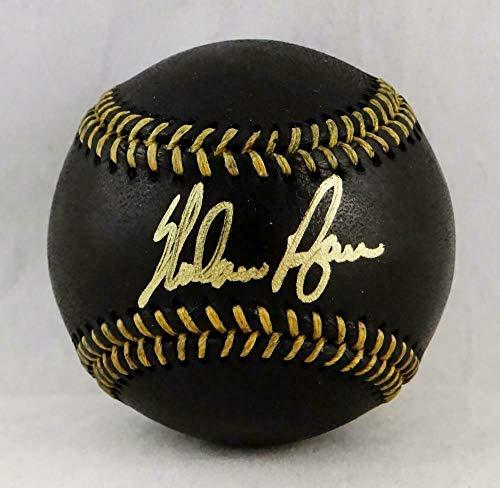 Nolan Ryan Ball (Nolan Ryan Signed Ball - Rawlings OML Black AI Verified - Autographed Baseballs)