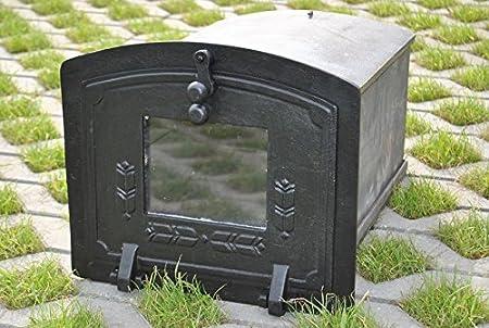 Antikas - estufa exterior para pan o pizzas pequeñas - horno de jardín para hornear pan pizza - estufa jardín para pared: Amazon.es: Jardín