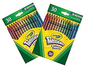 Crayola 30 Count Twistable Colored Pencils 2-Pack