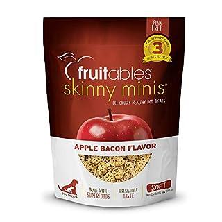 Fruitables Skinny Mini Soft Low Calorie Training Treats for Dogs | Apple Bacon Flavor | 5 Ounces
