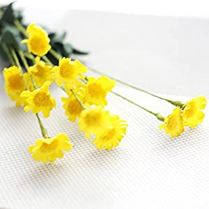 Choice Artificial Silk Fake Flowers Small Daisy Wedding Bouquet Party Home Decor Yellow 89
