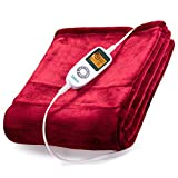 Sable Electric Throw, Heated Blanket Fast-Heating, Full Body Warming ETL Certified, 10 Temperature Settings Auto Off,...
