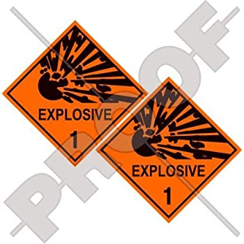 Amazon Com Explosive Explosion Danger Warning Safety Sign