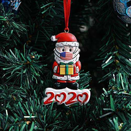 Inno-Huntz Christmas Tree Decoration Santa Clause Resin Ornament Tree Hanging Accessory Happy Santa Clause 2020 Holiday Present Home Décor