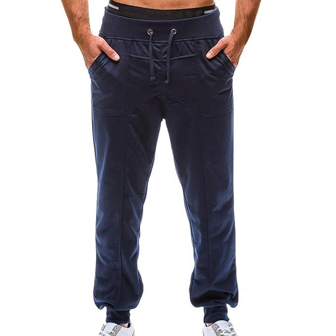 Pantalón Chandal Hombre Pantalones Deportivos Suelto Casual con ...