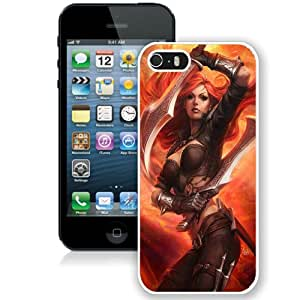 Fashionable iPhone 5 5S Case ,Unique And Lovely Designed Case With League Of Legends Katarina Art White iPhone 5 5S Cover Phone Case