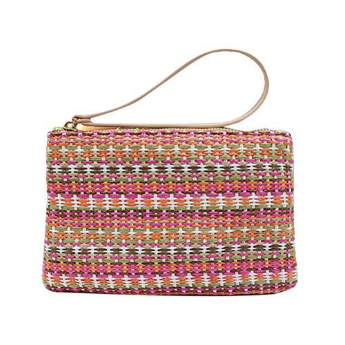 FENICAL Straw Clutch Bag...