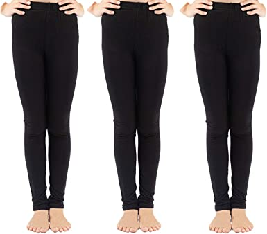 7140605040302010700-IW-40/_Multicolor/_16-17 Years Indistar Kids Solid Leggings Pants Pack of 9