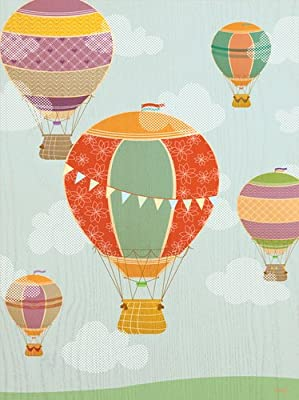 Oopsy Daisy Balloon Ride by Molly Bernarding Posters That Stick Wall Decal, 18 by 24-Inch