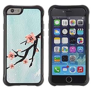 "Hypernova Defender Series TPU protection Cas Case Coque pour Apple Iphone 6 [Diseño Flor de cerezo""]"
