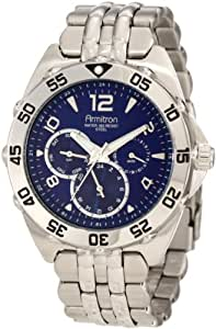 Armitron Caballero 204664BLSV Silver-Tone Stainless-Steel Multi-Function Blue Dial Sport Reloj