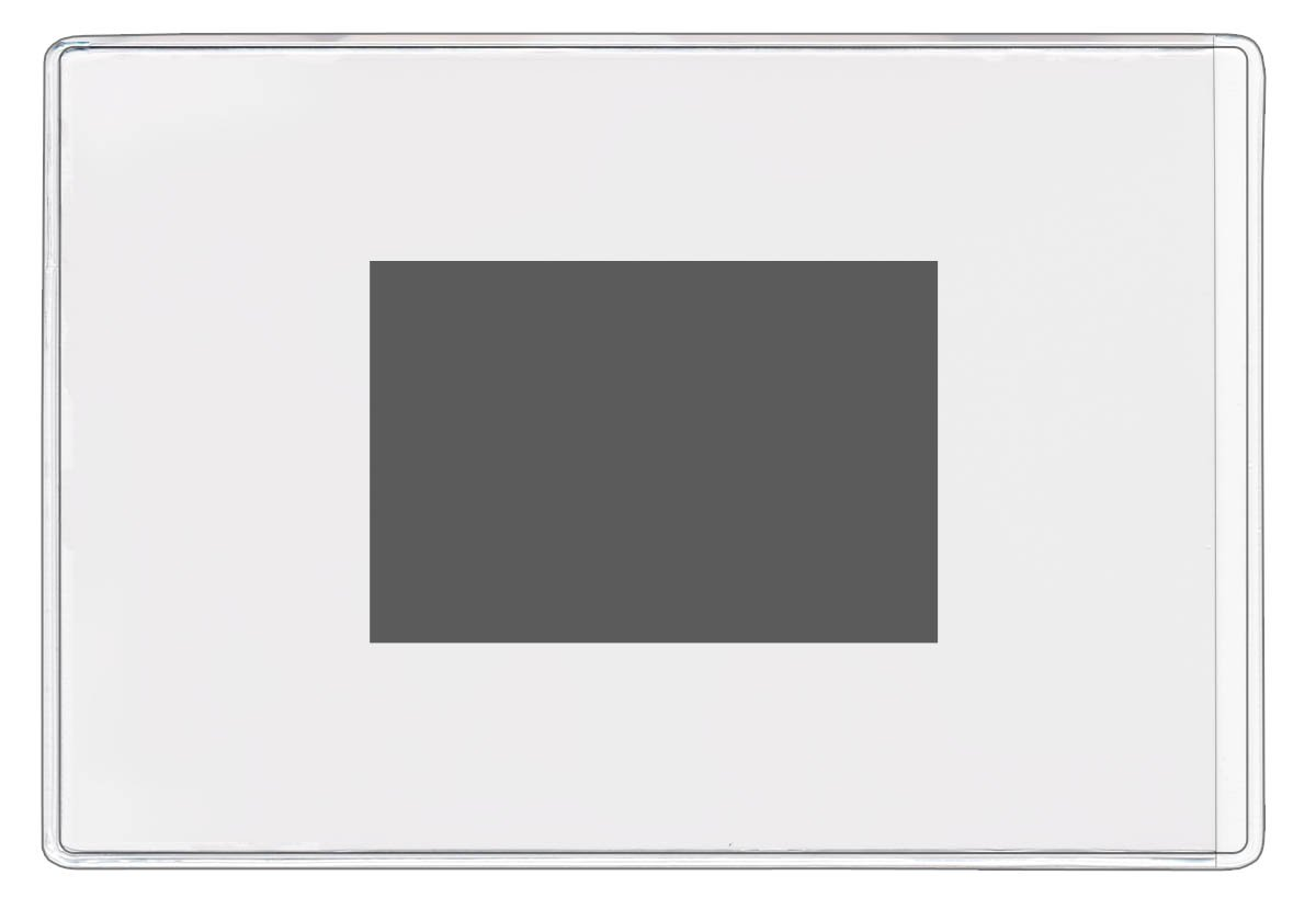 StoreSMART - Clear Plastic 4'' x 6'' Pockets - Magnetic Back - 100-Pack - Open Short Side - PE1888M-100