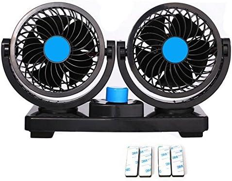 12 V mini ventilador eléctrico del coche aire acondicionado de verano del coche de poco ruido rotación de 360 ...