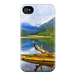 Shock-dirt Proof Log In The Lake Case Cover For Iphone 4/4s