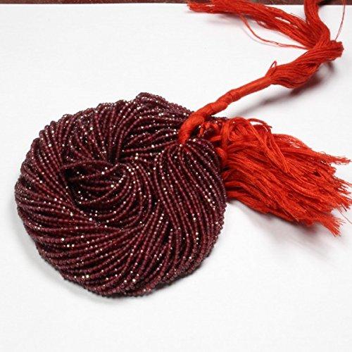2mm Natural Rhodolite Garnet Gemstone Beads Full 13 Inch Strand Faceted Cut Rondelle 1 Strand ()