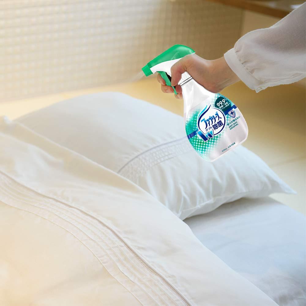 ファブリーズ ダブル除菌を布団に使うイメージ