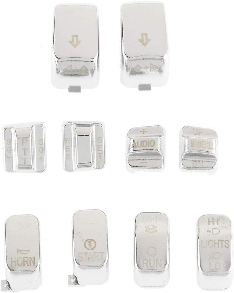 INNOGLOW Black Hand Control Switch Housing Caps Set For Harley-Davidson Electra Street Glide 1996-2013