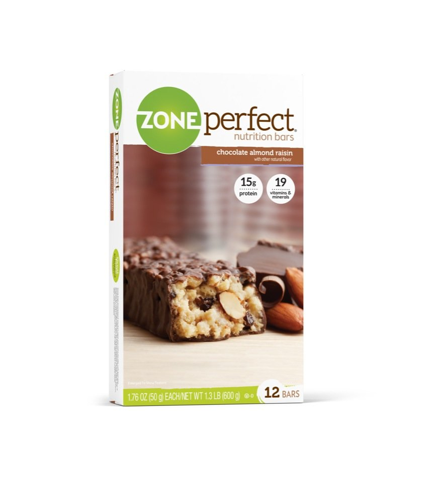Zone Perfect All Natural Nutrition Bar, Chocolate Almond Raisin, 1.76-Ounce Bars in 12-Count Boxes (Pack of 2)