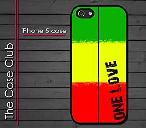 iPhone 5C (New Color Model) Rubber Silicone Case - Rasta One Love Colors Reggae Jamaican Style
