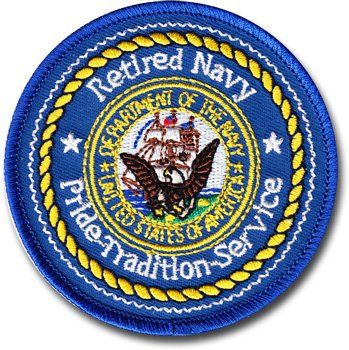 Flagline Navy - Retired - Military 3 in. Round Patch