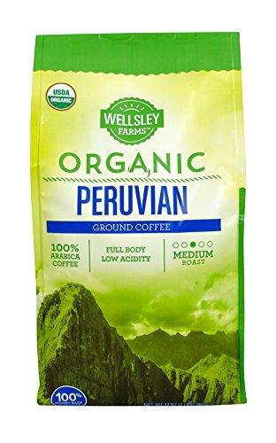 Wellsley Farms Organic Peruvian Ground Coffee, 32 Ounce