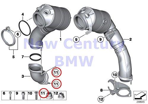 - 4 X BMW Genuine Catalytic Converter/Front Silencer Collar Nut M8 740i 750i 750iX ALPINA B7 ALPINA B7X 740Li 750Li 750LiX 760Li ALPINA B7L ALPINA B7LX 760Li Hybrid 7 Hybrid 7L M6 M6 550i 550iX 528i 550