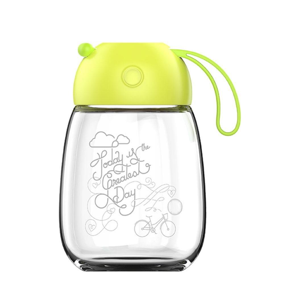 400ml Glasbecher portable Damenbecher schönen großen Bauch Glas kreative Siegel Tasse