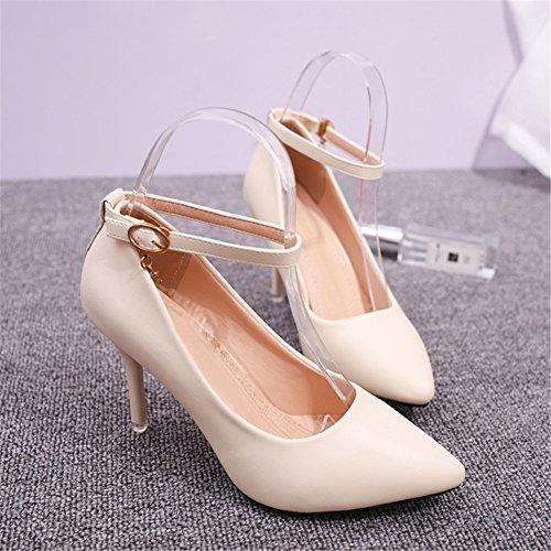 2189328b 60% de descuento SHINIK 2018 zapatos de primavera nuevos de las mujeres  tacones altos zapatos negros de las señoras para el banquete de boda y la  tarde ...