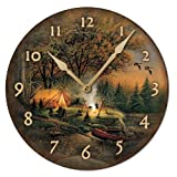 Evening Solitude Round Clock by Terry Redlin For Sale
