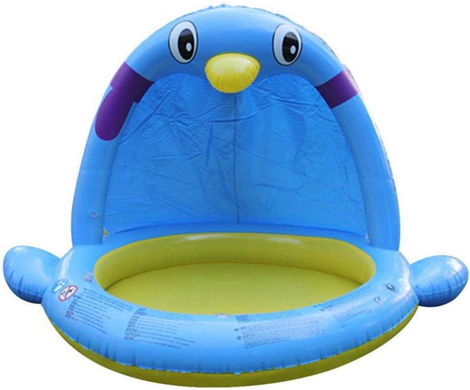 YAMMY Juego de rociado de Agua para niños Grandes Alfombra de baño para bebés Pingüino Piscina Infantil Inflable para Uso en Interiores y Exteriores Regalo
