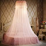 Lustar Court Style Mosquito Net Bed Canopy Children Fly Insect Protection Indoor Decorative Height 270cm Top Diameter 50cm 1.2-2m Bed,Cream