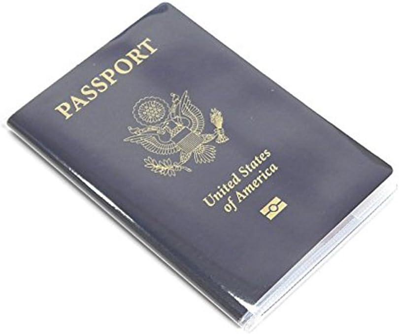 Baoblaze 5 pi/èces /étanche housse de passeport plastique transparent /étui protecteur de carte claire