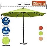 Cheap Sundale Outdoor 10 Ft Sunbrella Canopy Patio Market Umbrella Garden Aluminum Umbrella with Crank and Auto Tilt, Macaw