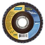 Norton RedHeat Abrasive Flap Disc, Type 29, Threaded Hole, Fiberglass Backing, Ceramic/Zirconia Alumina, 7 Dia., 40 Grit (Pack of 1) by Norton Abrasives - St. Gobain