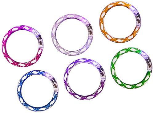 OliaDesign Flashing LED Bracelet (12 Piece), Wire, Large