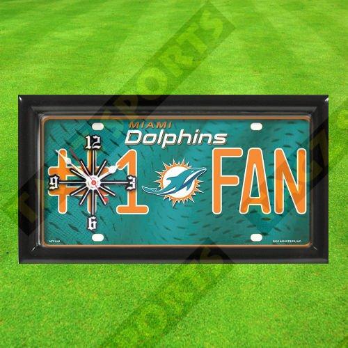 TAGZ Sports Miami Dolphins Wall Clock ()