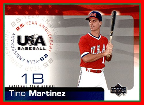 (2004 Upper Deck Team USA Baseball 25th Anniversary #120 Tino Martinez Yankees Mariners Cardinals)