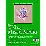 "Strathmore 462-209, 400 Series Toned Tan Mixed Media Pad, 9""x12"" Glue Bound, 15 Sheets per Pad"