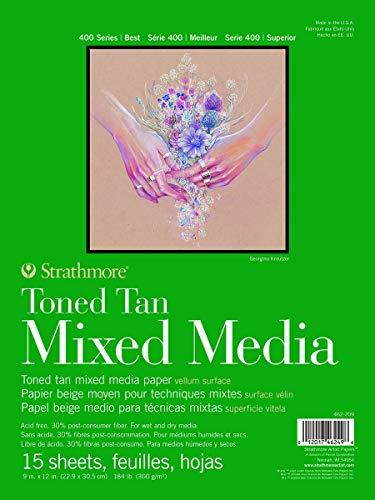 Strathmore 462-209, 400 Series Toned Tan Mixed Media Pad, 9