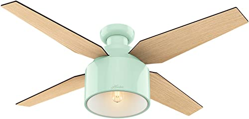 Hunter Cranbook Indoor Low Profile Ceiling Fan with LED Light and Remote Control, 52 , Bronze Dark