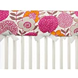 Glenna Jean Millie Crib Rail Protector, Floral, Long