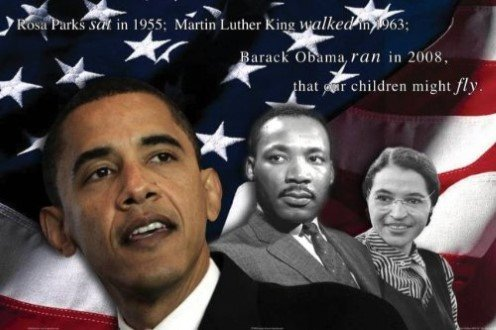 - Our Children Will Fly by Zachary Brazdis 36x24 Art Print Poster BARACK OBAMA, MARTIN LUTHER KING, ROSA PARKS, AMERICAN FLAG, RED WHITE AND BLUE, BLACK HISTORY, BEST SELLER