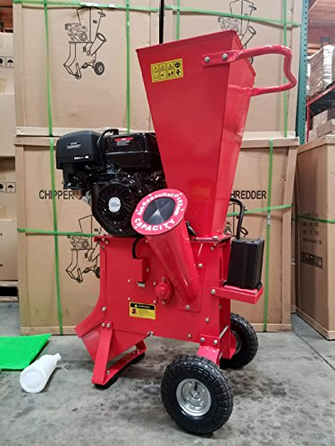 15HP 420CC Gas Powered Wood Chipper Shredder, 4'' Capacity, with Mulch Bag and Electric Start by MCP Samson Chipper (Image #1)